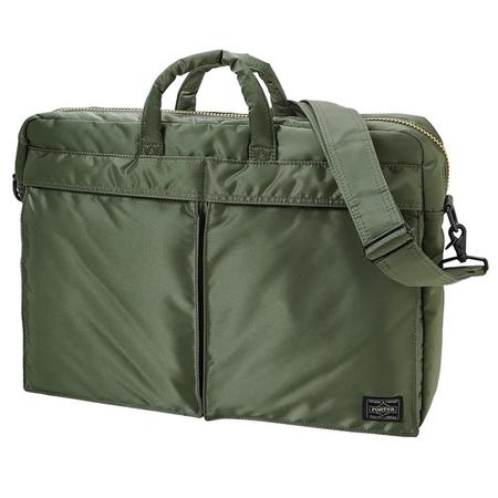 Porter Yoshida Tanker 2Way Briefcase - SAGE GREEN