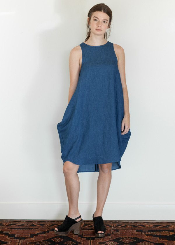 Megan Huntz Yoonhwa Dress in Denim