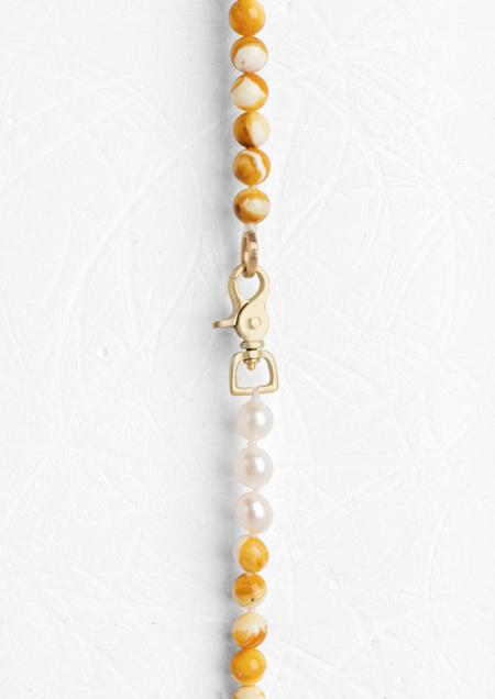 Agas & Tamar Amber Spiro Necklace -  Amber