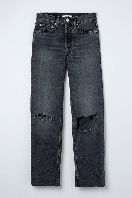 RE/DONE 70s Stove Pipe Jeans - Faded Coal