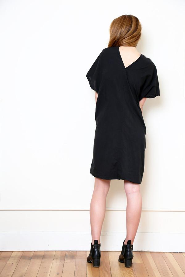Uzi NYC uzi black v dress