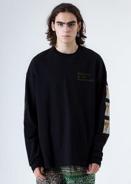 Children of the discordance Black Sastr Rose Embroidery Long Sleeves - Black