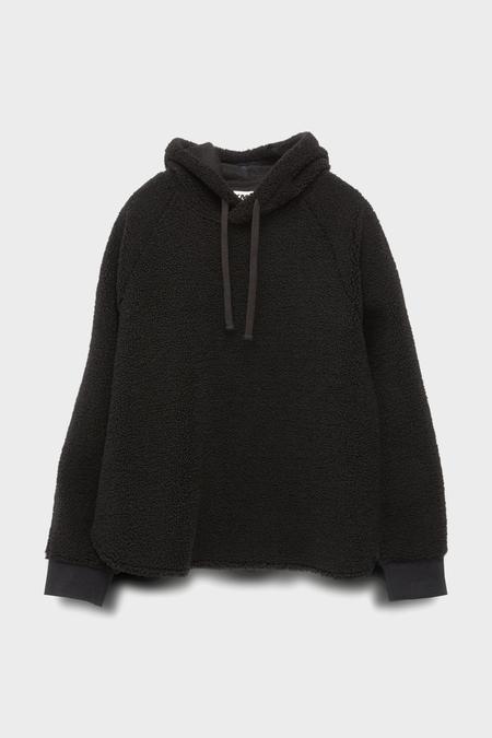 You Must Create Big Hoody Fleece - black
