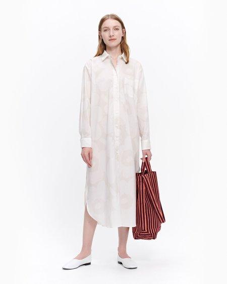 Marimekko Jalous Unikko dress - beige/off white