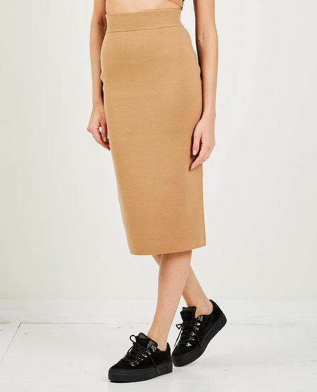 VICTOR GLEMAUD Color Block Skirt - camel