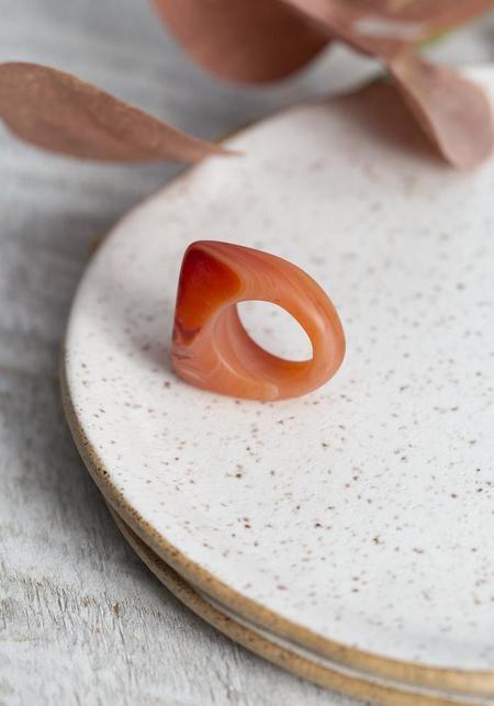 Hinge Carnelian Ring
