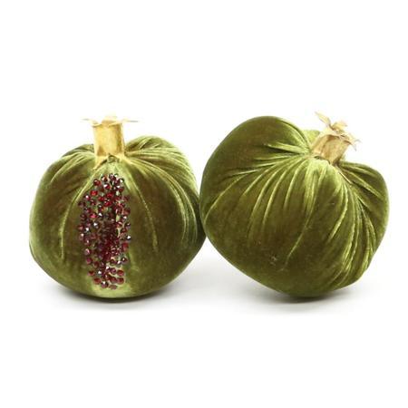 Hot Skwash Velvet Pomegranate Cactus - 24kt gold