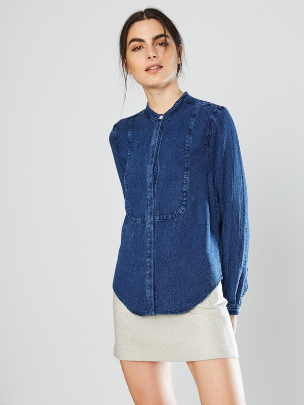 YMC Indigo Buttondown Shirt