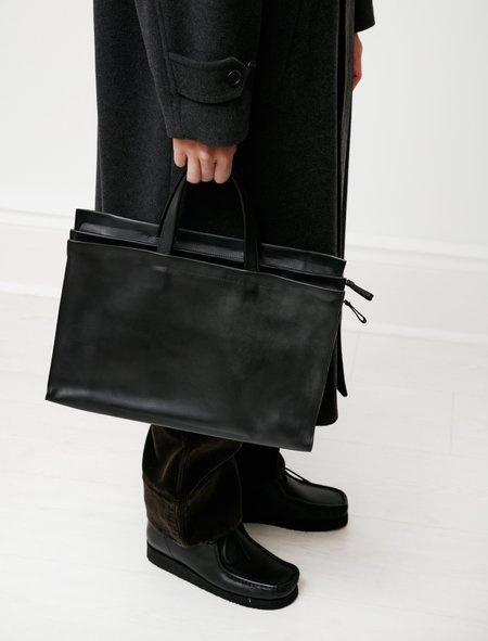 Isaac Reina 947 Staircase Satchel - Double Tanned Calf Black