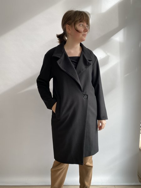 Valérie Dumaine DAMARIS NOIR COAT  - Black