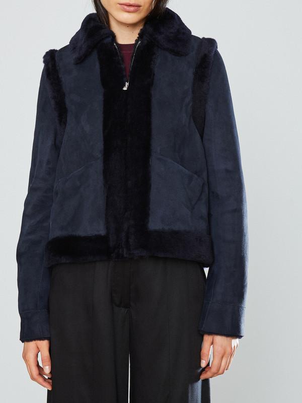 Ganni Scott Shearling Jacket