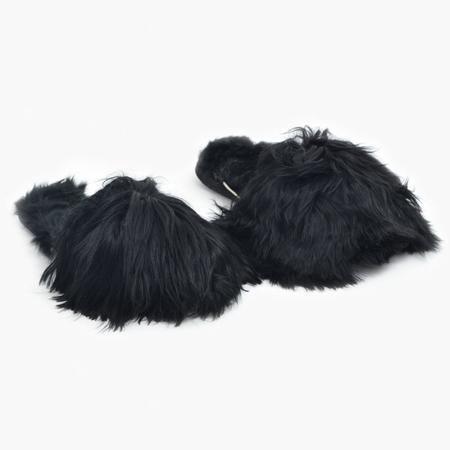 Ariana Bohling Suri Alpaca Slippers - Black
