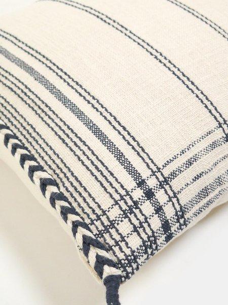 Erica Tanov White Label yuba cotton throw pillow - natural/blue