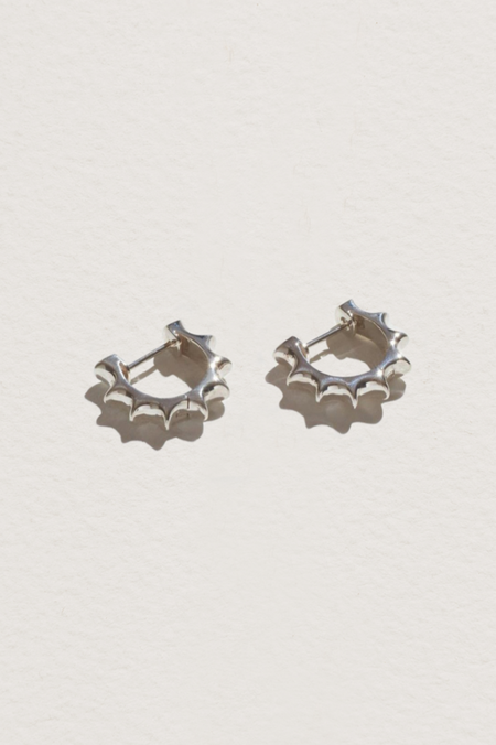 Pamela Love Sun Hoop Earrings - Sterling Silver
