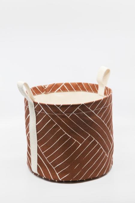 Gravel & Gold Medium Canvas Bucket - Hatu