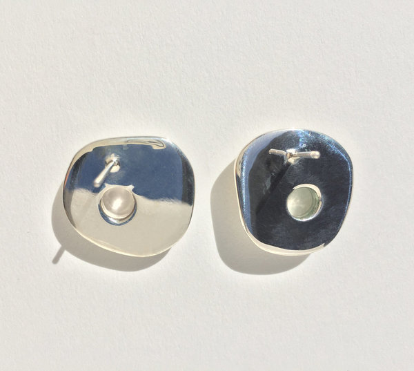 Leigh Miller Sterling Silver Hepworth Studs