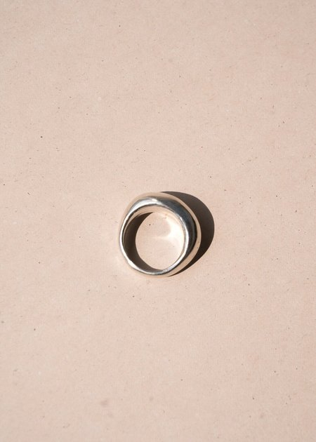 Unisex Swim To the Moon Siren Ring - Silver