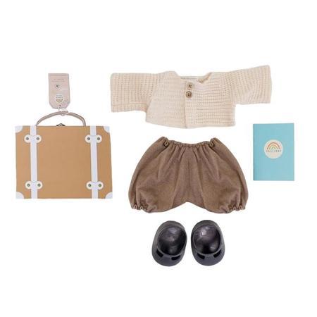 Kids Olli Ella Dinkum Doll Travel Togs - Rust Brown