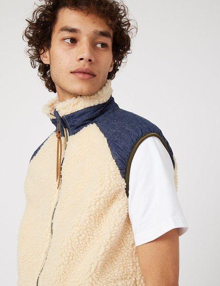 orSlow Fleece Vest - Ecru