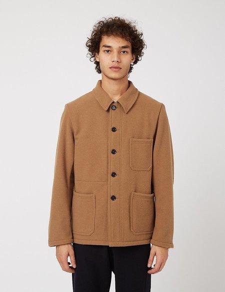 Vetra Workwear Soft Melton Wool Jacket - Camel