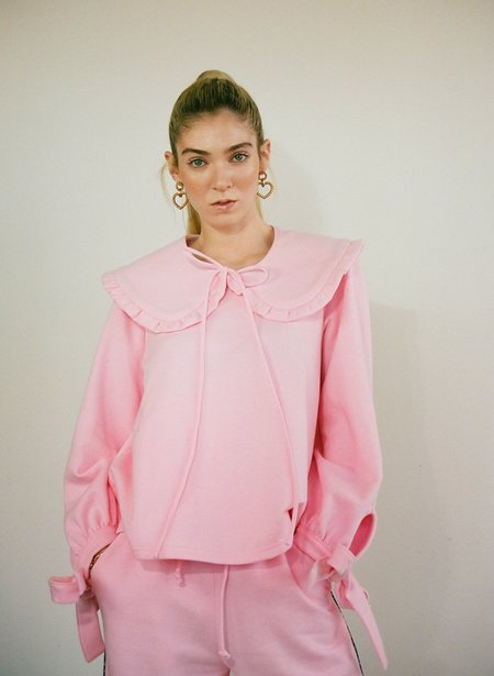 Eliza Faulkner Ruffled Collar - Pink