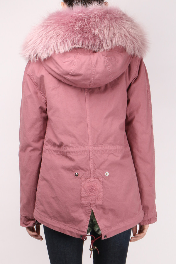 Mr & Mrs Italy Canvas Fur-Trimmed Mini Parka