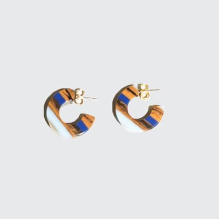 Rachel Comey Cuba Earrings - Blue Swirl