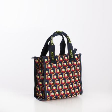 KIDS oilily urban geo shoulder bag - indigo