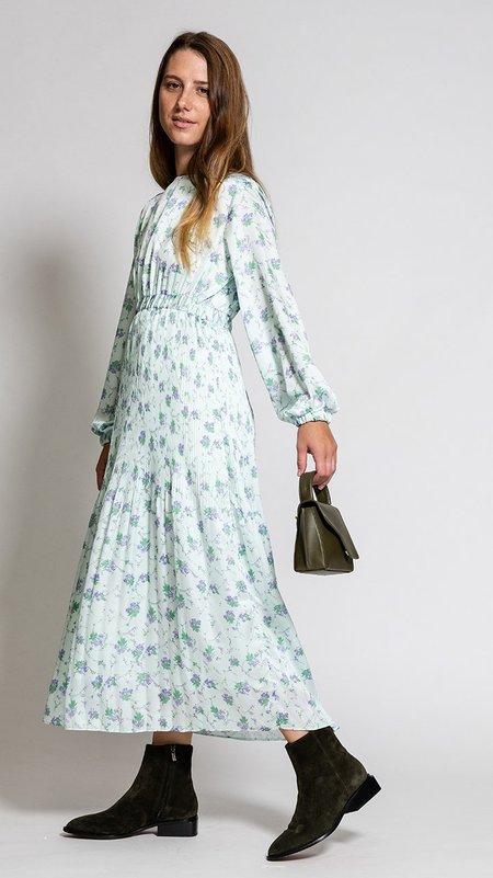 Hidden Forest Market Fortuna Pleats Dress - Mint