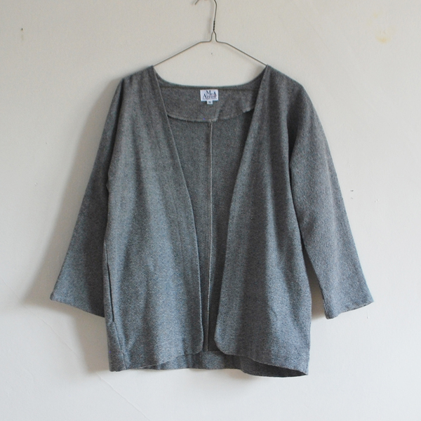 Me & Arrow Cardi Jacket - Fuzzy Heather Grey
