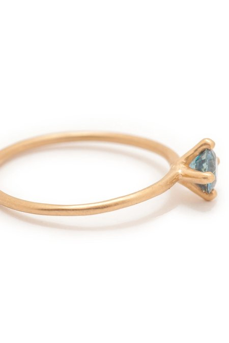 Valley Rose Atlantis #2 Solitaire Ring - Montana Sapphire/14k Gold