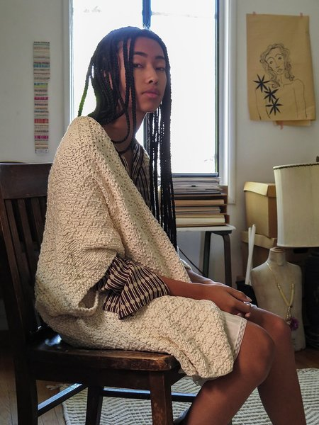 Erica Tanov organic cotton kimono cardigan - natural