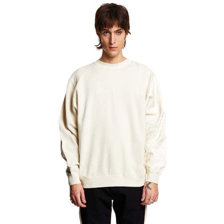 AMBUSH Mix quilted sweatshirt - beige