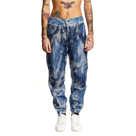 AMBUSH Hybrid jacquard jeans - blue