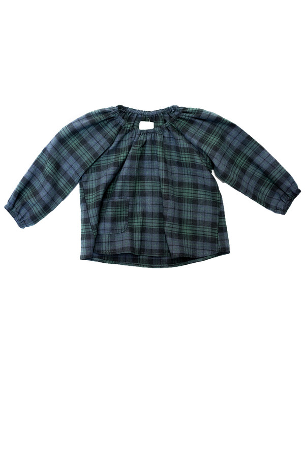 Kid's Boy+Girl Poppy Top- Green/Charcoal