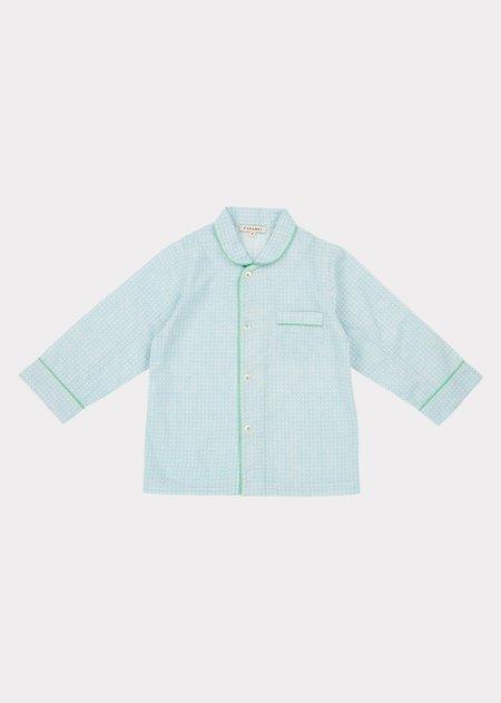 kids Caramel Child Pyjamas - Blue Check