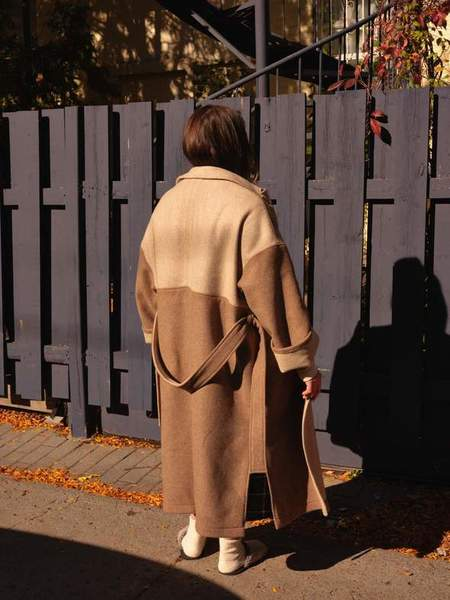 Odeyalo Tousignant Trench Coat - Camel/Beige Colour Block