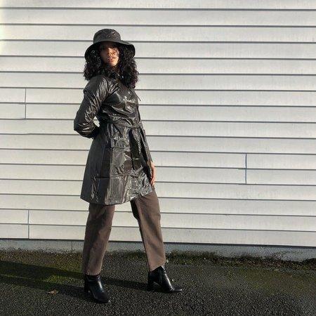 Rains Shiny Belt Jacket - Brown