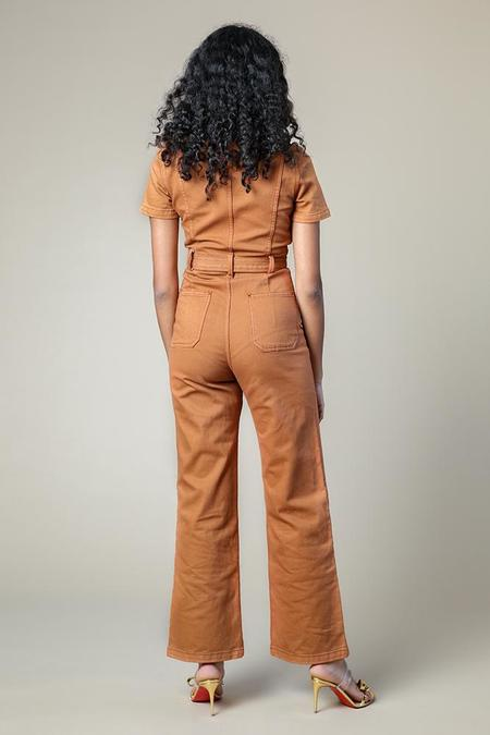 Rachel Antonoff Sal Jumpsuit - Burnt Orange