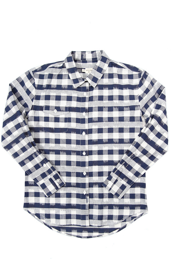 Bridge & Burn Bird Navy Painted Plaid