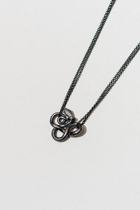 Arcana Obscura Tail Around Neck Snake 2 Necklace - sterling silver