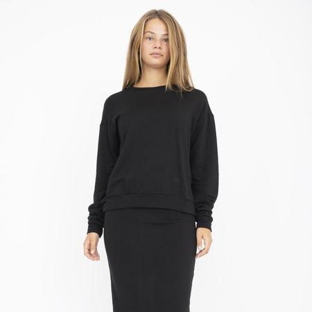 Corinne Collection Boyfriend Sweater - Black