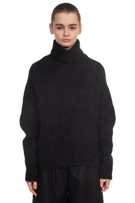 Isabel Benenato Mohair Knit Turtleneck - black