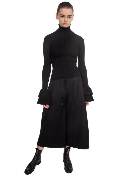 Isabel Benenato Wide Legs Cropped Trousers - Black