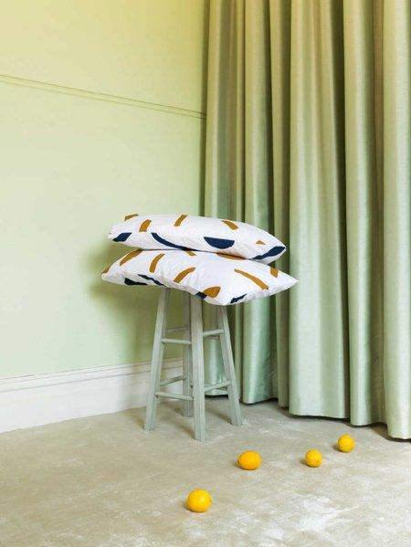 Mosey Me Shapes Standard Pillowcase Set - Navy/Tan