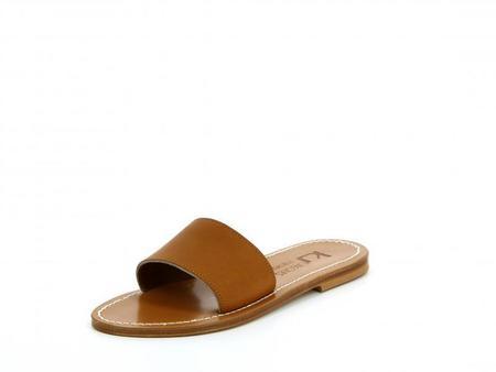 K. Jacques Anacapri Leather Sandal - Tan
