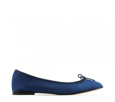 Repetto Suede Ballet Flats - Blue