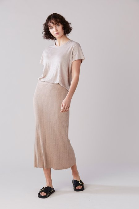 Laing Home Essential Linen T-Shirt - Washed Sand