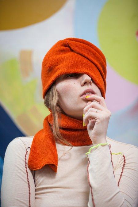 Rototo Knitted Sock Stole - Orange