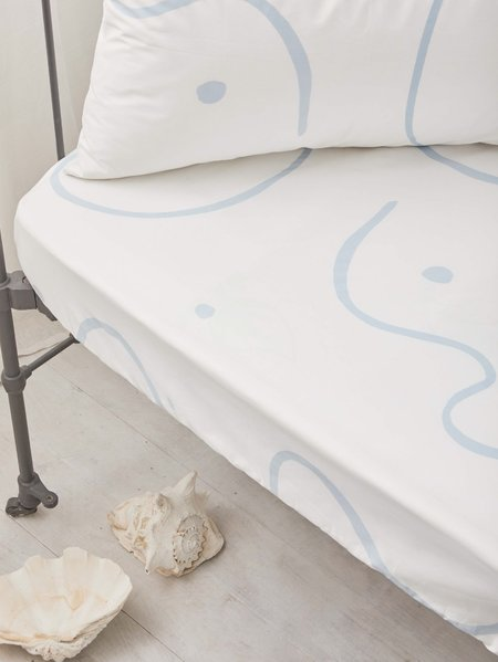 KIDS Mosey Me Salento Fitted Cot Sheet - Blue